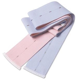 """COVIDIEN Buttonhole-Style Fetal Monitor Abdominal Belt (pink and blue - 2  3/8"""" x 48"""") – Item #31410270, Item #BE31410270"""