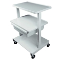 Ideal Offset Shelf Cart, 3 Shelf with Drawer – item #HC220, item #CAHC220