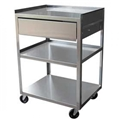 Stainless Steel 3 Shelf EKG Cart w/Drawer - item #MC21D, item #CAMC21D, item #MC21ED, item #CAMC21ED