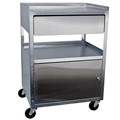 Ideal Stainless Cabinet Cart with Drawer – item #MCC21D, item #CABMCC21D