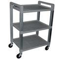 Ideal EKG Poly Utility Cart, Standard – item #UC320, item #CAUC320-1-G (gray), item #CAUC320-1-W (white)