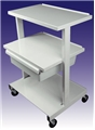 Offset Shelf Cart, 3 Shelf w/Drawer CAHC220