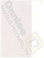 "Burdick Mortara 7868 LE/LEII Standard Red Grid Chart Paper (216mm x 280mm, 8.5"" x 11"") – item #3347174, item #PBS7868"