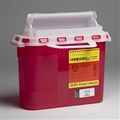 "BD™ 5.4 Quart Red Patient Room Sharps Container (10.75"" x 12"" x 4.5 "") – Item #305426, Item #SH305426"