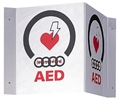 AED 3D V-Shaped Sign- Item #93100738, Item #SI93100738