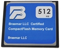 Braemar Compact Flash Card, 512MB - item #350-0252-03, item #FL350025203