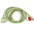 NORAV 3-Lead ECG Trunk Cable With Pinch Connectors C3-C-U-LL-D