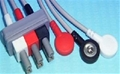 "Dual Socket, 3 Lead Shielded, 40"" Snap Termination Lead Wires - item #21-0461-51, item #80900-40-3A, item #LE80900403A"