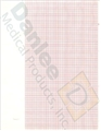 GE Marquette Z-Fold Red Grid Chart Paper with Blank Header - item #1148473, item #PMS9402024