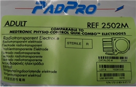 ConMed™ PadPro® Medtronics Physio-Control Sterile Defibrillation Pads - item #2502M, item #DE2502M