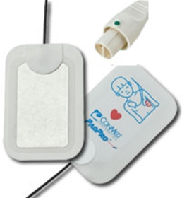 Conmed PadPro Pediatric Defib Electrodes with Philips Barrel Style Connector - item# 2603P - item# DE2603P
