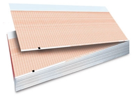 Mortara ELI Series Z-fold Red Grid Chart Paper #9100-026-50