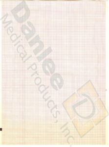 Schiller Compatible Red Grid Chart Paper #2157-009A