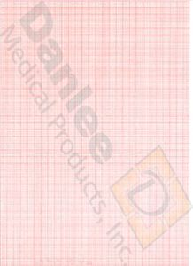 Welch Allyn® Compatible Red Grid Chart Paper #94010-0000